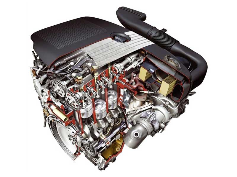 Mercedes-Benz C220 CDI variklio schema