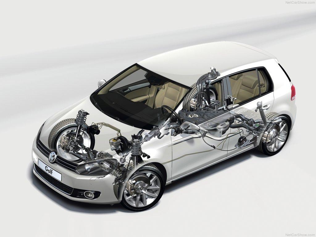 VW Golf 6 važiuoklė