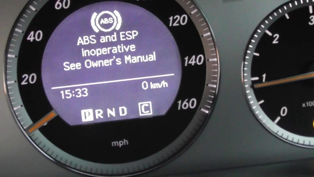 ABS and ESP inoperative see Owner's Manual