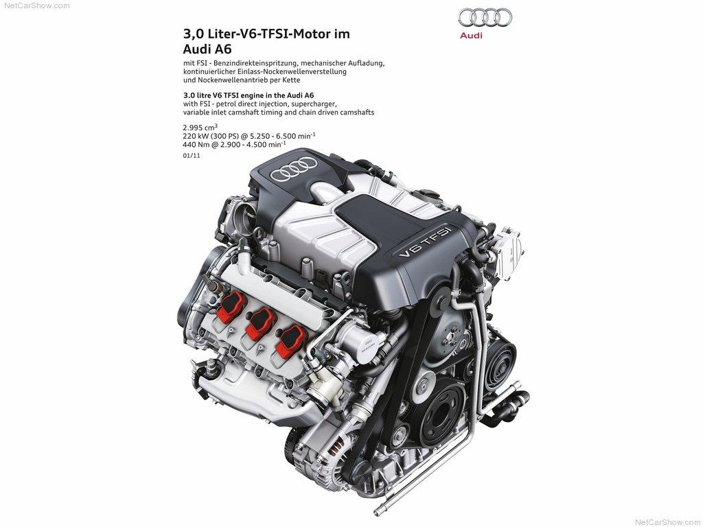 Audi A6 C7 3.0 TFSI variklio schema