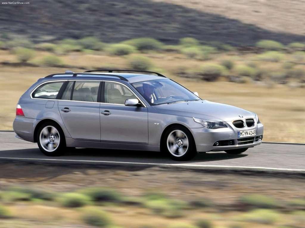 Pilkas BMW E61 Touring universalas