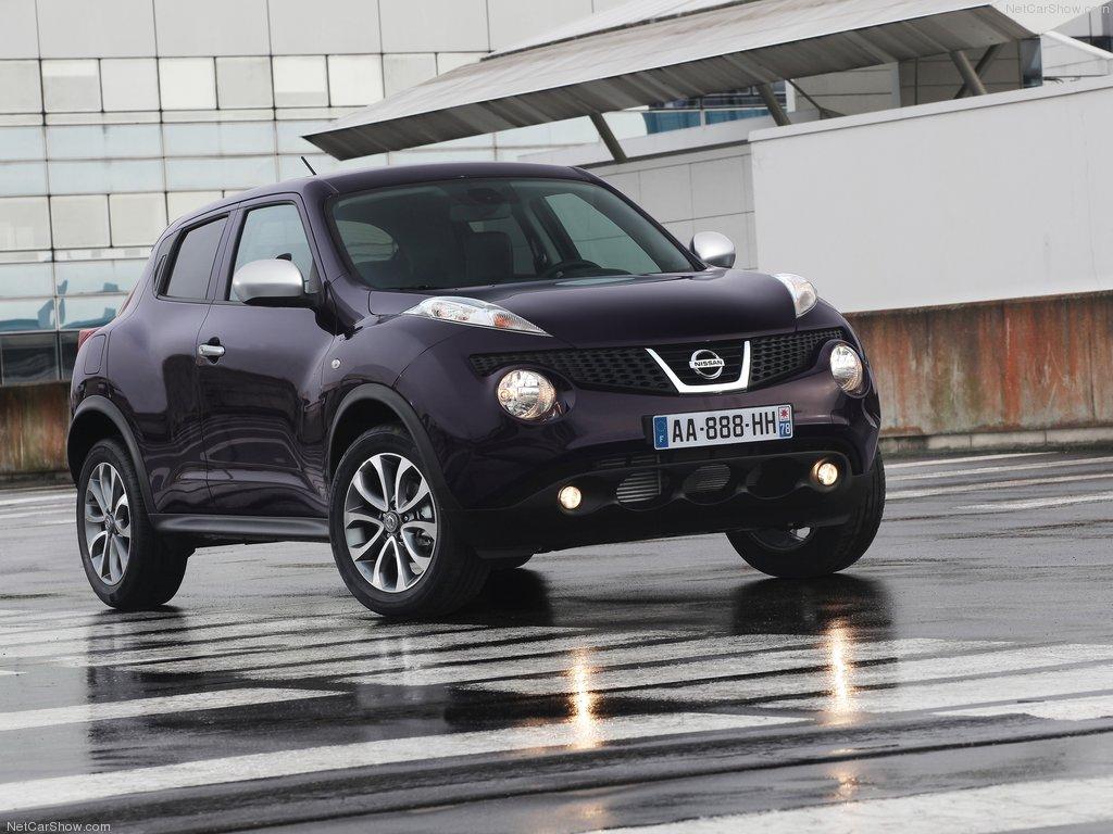 Violetinė Nissan Juke 2012